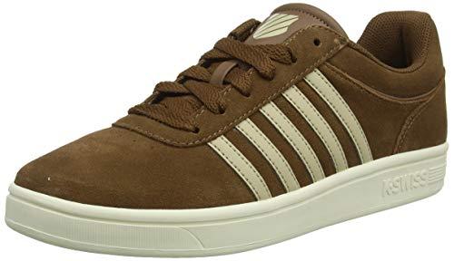 K-Swiss Herren Court CHESWICK SDE Sneaker, Braun (Barrelbrown/Antqwt 249), 47 EU