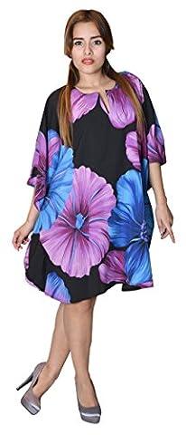SUNROSE Hibiscus floral printed beach Kaftan Caftan Gown
