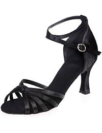 Elobaby Zapatos De Baile De Mujer Latin Cross Strap Buckle Dress Jazz Low Heels/7.5cm TalóN/Vestido