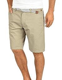 Blend Ragna Chino Pantalón Corto Bermuda Pantalones De Tela para Hombre con  Cinturón De 100% f9ed404adfc4