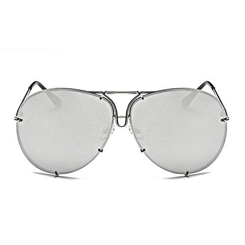 Horrenz Frauen M?nner ¨¹bergro?e Sonnenbrille-Marke Design Superstar Weiblich M?nnlich Spiegel Sonnenbrillen Kim Kardashian Sonnenbrille [Typ 1]