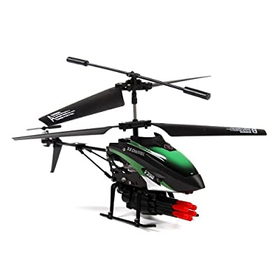 4Ch Metal Alloy Body RC Helicopter with Multi-missile Launcher and Built-in Gyro