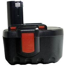Batería de níquel-cadmio para Bosch Baccs 24V, GBH 24V, GBH24VF, GCM24V, GKG 24V, GKS 24V, GLI 24V, GMC 24V, GSA 24V, GSA 24VE, GSB 24VE-2, GSR 24VE-2, sustituye a los modelos 2607335637, 2607335645, B-8230, BAT030, BAT031, BAT240, BAT299, BH-2424, BTP1005 (24 V, 2000 mAh)