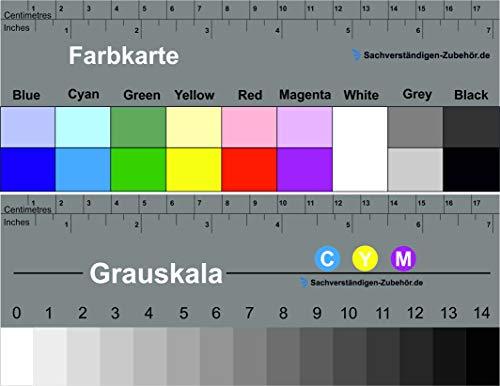 Stufengraukeil und Farbkarte 17 cm   KUNSTSTOFF   MATT   Sachverständigen-Zubehör