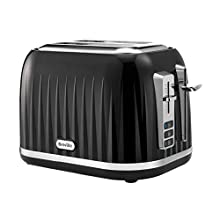 Breville VTT529 Impressions 2-Slice Toaster, Featuring High-Lift, Black with Chrome Trim,