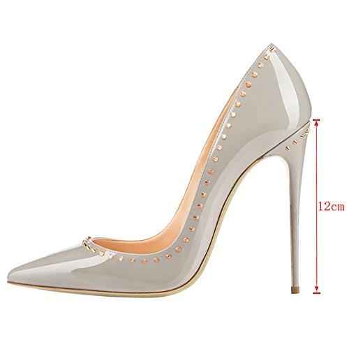 EKS , Chaussures à rivets femme Grau-12cm