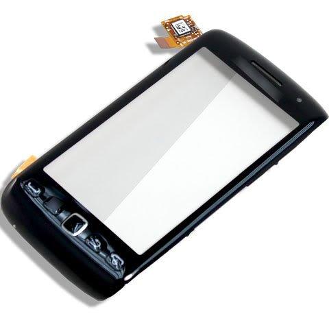 Schwarz Touch Screen Digitizer + Tastatur Tasten + Trackpad + Sound Ohrhörer für Blackberry Torch 98509860 ()