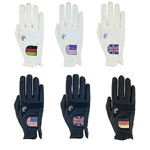 Roeckl Sports Handschuh Maryland Unisex Reithandschuh Flagge D US UK, Swarovski