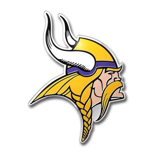 """Team ProMark NFL die cut Farbe Automarke Emblem, Minnesota Vikings, 4"""" x 3"""""""
