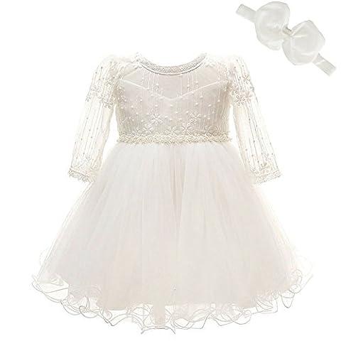 baptême robe mariage de princesse occasion spéciale des manches longues