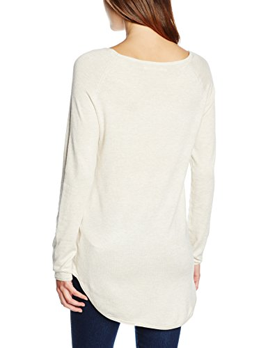 ONLY Damen Pullover Onlmila Lacy L/S Long Pullover Knt Noos Elfenbein (Oatmeal Detail:W. Melange)