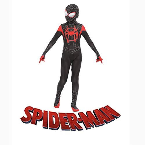 YUNMO Spiderman Enge Kleidung Kleine Schwarze Spinne Cosplay Anime Kostüm Neue Ära Spiderman Parallel Universum (größe : L) (Spider Kostüm Neue Man)