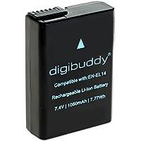 digibuddy Batterie pour en-el14a pour/EN-EL14/en-El 14A Convient pour Nikon d3400/d5600