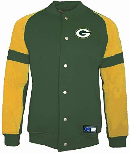 Majestic Green Bay Packers NFL Jeiter Fleece Letterman Jacke Gr. XXL, grün -