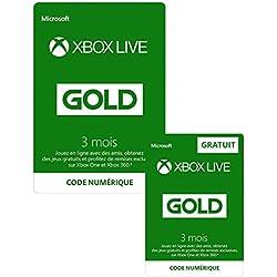 3 Mois Xbox Live Gold + 3 Mois GRATUIT | Xbox Live - Code jeu à télécharger