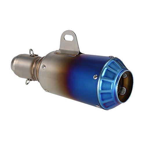 SLD145-SC06 38-51mm Universal Einstellbare Motorrad Auspuff Endrohr (Farbe: splitter & blau)