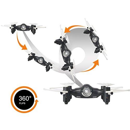 Syma X20 Mini Drone 2.4G 4CH 6 - Axis Gyro RC Quadcopter Suspensión de Altura Cuadricóptero con Control Remoto Modo Sin Cabeza, Flips 3D, Negro