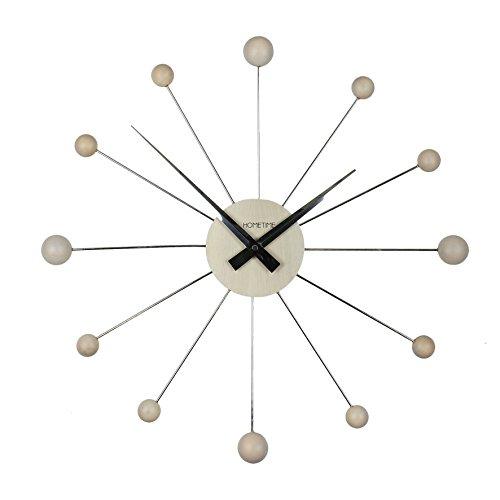 Hometime reloj de pared colección de cromo & de madera 50cm de arce '