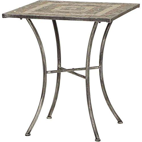 Siena garden 380789 - Felina mesa óptica cuadrada de hierro con mosaico, 60 x 60 cm