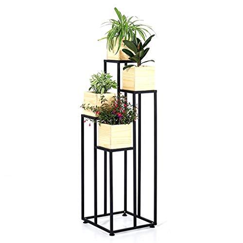 NMDCDH Regal Amerikanischen Moderne Einfache Schmiedeeisen mehrschichtigen Blumenständer bodenständigen Wohnzimmer Indoor Grüne Blume Stehen TV Schrank Blumenständer Partition (Größe: H: 120 cm) -