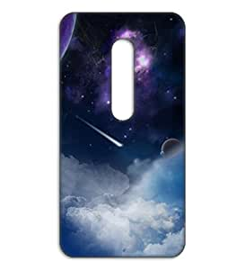 Happoz sky and stars Motorola Moto G Turbo back cover Mobile Phone Back Panel Printed Fancy Pouches Accessories Z342