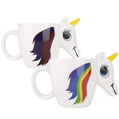 Romote Taza del Color cambiante Unicornio, 3D Calor Sensible a la Magia Que Cambia de Color Taza de café © © té, de Cuento ES © Regalos para los niños, niñas, Mujeres, Hombres