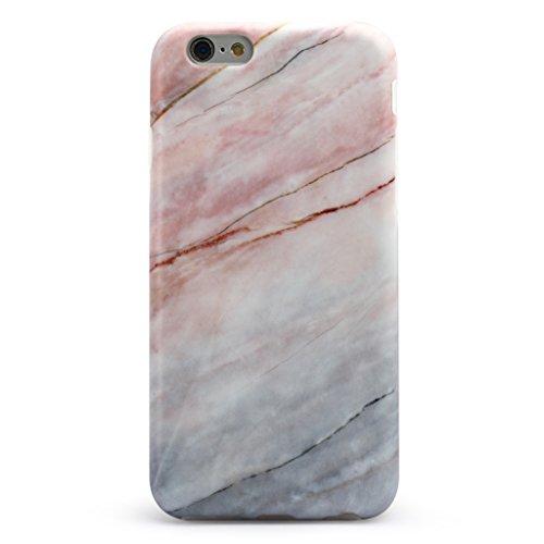 Schutzhülle für Apple iPhone 6 / 6S [Marmor / Marble] Design - Hard case cover Viele Varianten (Weiß - Marble) von Panelize C. & A. Rosa Grau 1