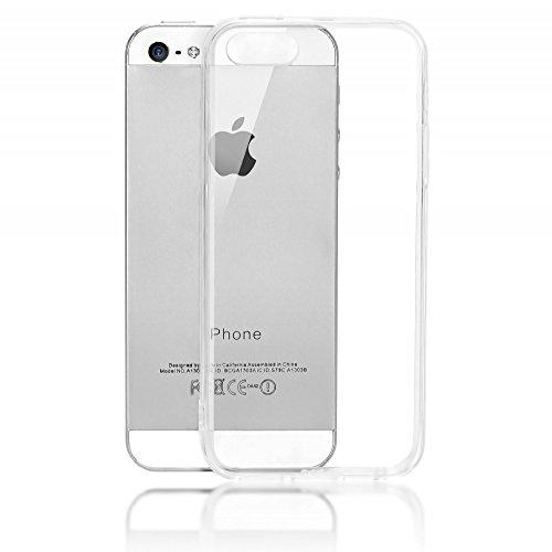 Apple iPhone SE 5 5S Hülle Handyhülle von NALIA, Durchsichtiges Slim Silikon Case mit Transparenter Rückseite & Bumper, Crystal Schutzhülle Etui Dünn, Handy-Tasche Back-Cover - - Gehäuse Rückseite Iphone 5