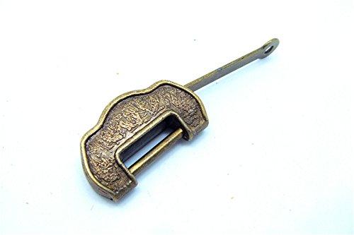 34* 11* 19mm klein Bronze Retro Old Schmuckkästchen aus Holz Schloss mit Schlüssel