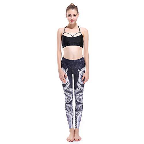 Ayujia Yoga Hosen Leggings Krake Grau Schwarz Abnehmen Hüfte Sport Atmungsaktiv Super Elastisch Schnell Trocknend Weiblich Neun Punkte