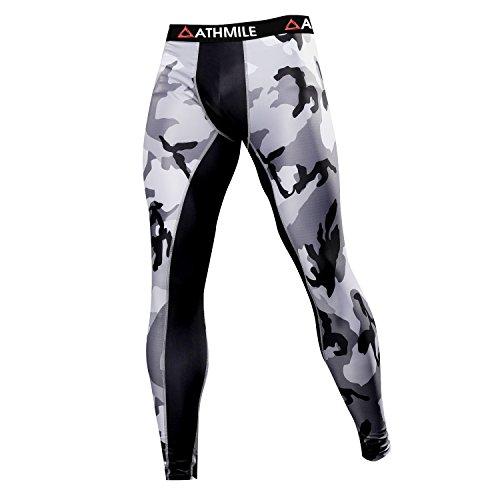 Athmile Herren Sports Kompression Cool Dry Pants Training Tights Running Base Layer Leggings & Shirts für Wandern, Marathon, Basketball, Bewegung und Fitness