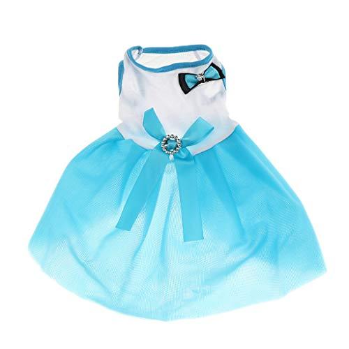 KESOTO Kleiner Hund Welpen Kleid Hochzeit Party Hunde Kleidung Bekleidung Hundekostüm - Blau, S -