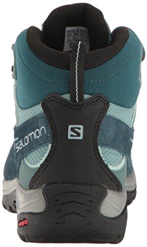 Salomon Damen Ellipse 2 Mid Ltr Gtx W Plissierte Stiefel Blau (Reflecting Pond/Artic/North Atlantic)