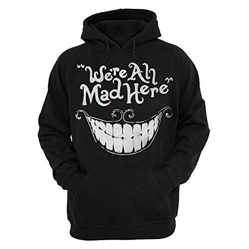 Qiusa 3D Skull Herren Hoodie Oversized Halloween Hoody Slogan Schwarz Goth Longline Asymmetrische Pullover Top Pullover Sweatshirt Größe XXL XXXL (Farbe : Schwarz, Größe : XXXL UK 16-18)