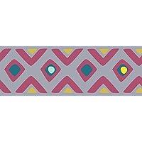 PLAGE Cenefa Adhesiva removible - Tribal Lila, acrílico, Parma, 300 x 0,