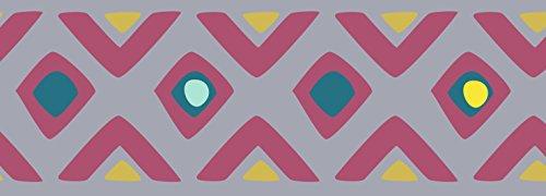 PLAGE Cenefa Adhesiva removible - Tribal Lila