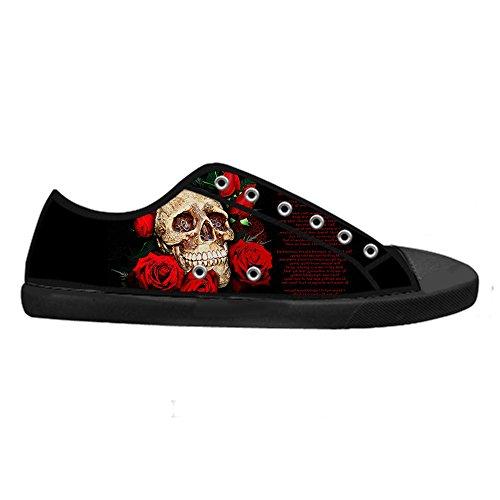 Dalliy Cool Skull Men's Canvas shoes Schuhe Lace-up High-top Sneakers Segeltuchschuhe Leinwand-Schuh-Turnschuhe A
