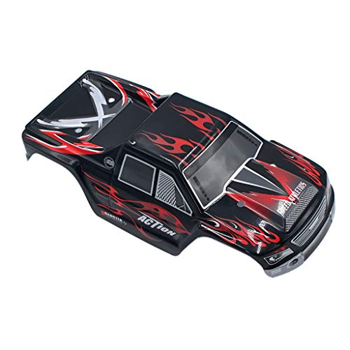 Car Body Shell Cover Case for Wltoys A979 A979-04 1:18 RC Car Upgraded Part (Schwarz) (Rc Truck Shell)