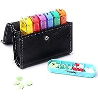 ZAK168 Pillendose für 7 Tage, mit PU-Aufbewahrungstasche, tragbar, 28-Grid, Medikamenten-Erinnerung, BPA-frei,... preisvergleich bei billige-tabletten.eu