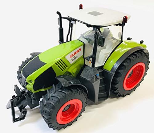 BUSDUGA RC Ferngesteuerter Traktor CLAAS 870 Axion 1:16 - passend zu den Bruder Anhänger, inkl. Batterien - 2,4 GHz - RTR (Ready-to-Run) Sofort Spielbereit - Lizenz NACHBAU*