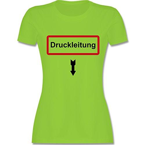 Feuerwehr - Druckleitung - tailliertes Premium T-Shirt mit Rundhalsausschnitt für Damen Hellgrün