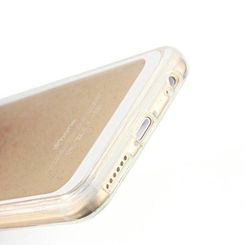 """Fenrad® Coque pour Apple iPhone 6 / 6S 4.7 """", 3d Glitter Lumineuse Slim Transparente Souple TPU Silicone Etui Housse de Protection Coque,Liquid Sables mouvants Design Antichoc Luxe Étui Case Cover - R Rose rouge"""