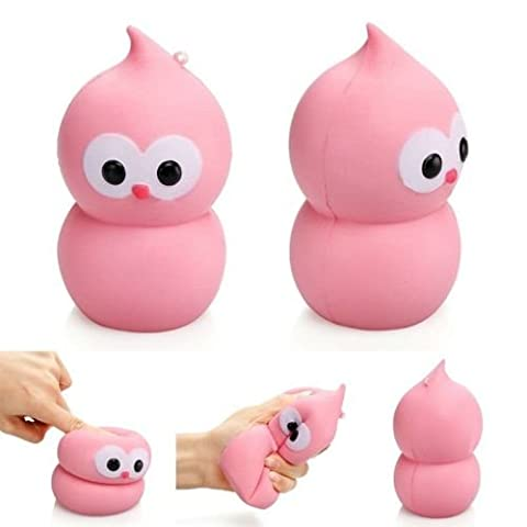 VWH Gourd Squishy Slow Rising Squeeze Toy Cream Scented Cute Animal Home Décor PU (pink big)
