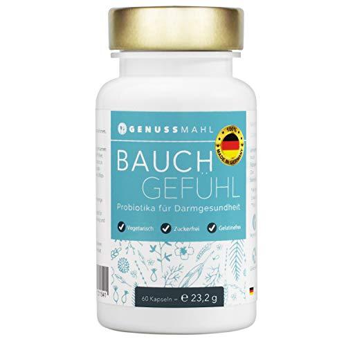 GENUSSMAHL Probiotika - Kulturen-Komplex für Darmsanierung - 10,8 Mrd kbE mit Lactobacillus, Bifidobacterium + Zink, Inulin für eine gesunde Darmflora - Hochdosiert, ohne Zusatzstoffe, made in Germany -