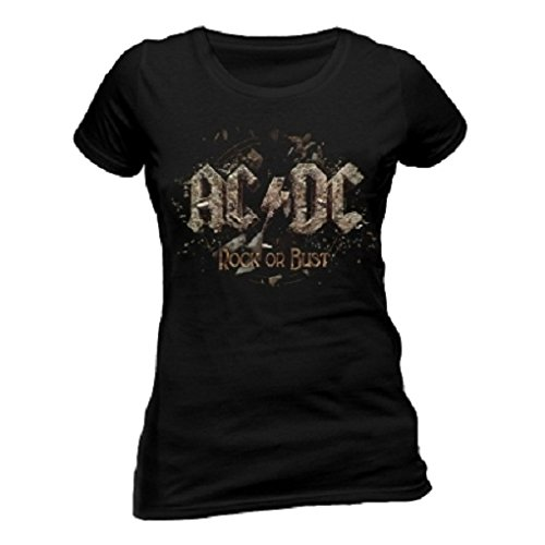 T-Shirt (Donna-Xxl) Rock Or Bust (Womens) New Release February