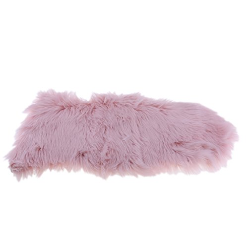 non-brand MagiDeal Künstliche Schaffell Teppich in versch. Farben, Größe: Ca. 40cmx60cm - Hell-Pink