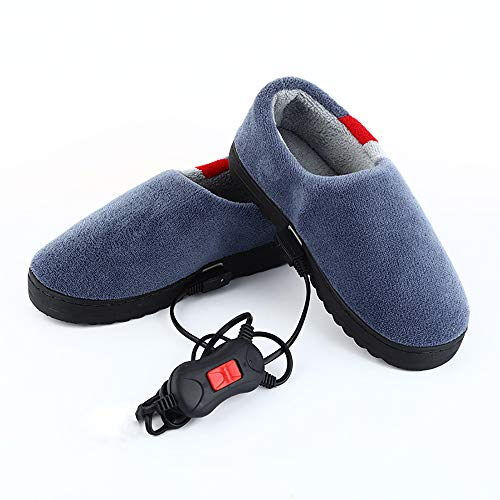 JRTX Heizschuhe Elektrische Fußwärmer Elektrische Fußwärmer Beheizte Hausschuhe Temperatureinstellbar Heizkissen,42~44