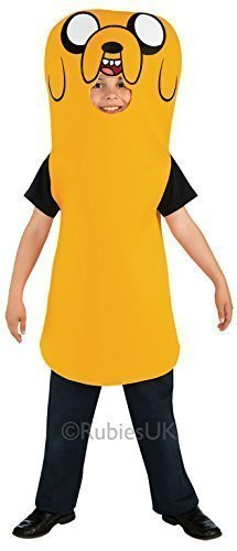 Jungen Finn das menschliche or Jake den Hund Adventure Time TV Zeichentrickserie Fest Kostüm Kleid Outfit 3 - 10 jahre - Jake, 3-4 (Kostüm Jake Finn Und)