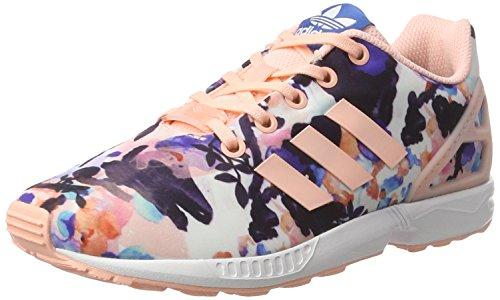 adidas  Zx Flux, Basses mixte enfant Rose (Haze Coral/haze Coral/ftwr White)