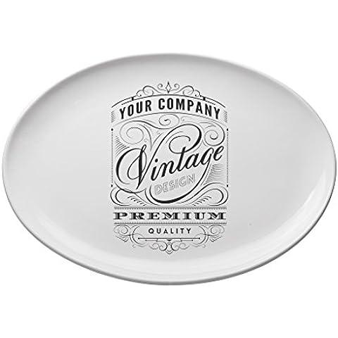 Valli Ceramiche, Vassoio ovale piccolo vintage 30x22 cm